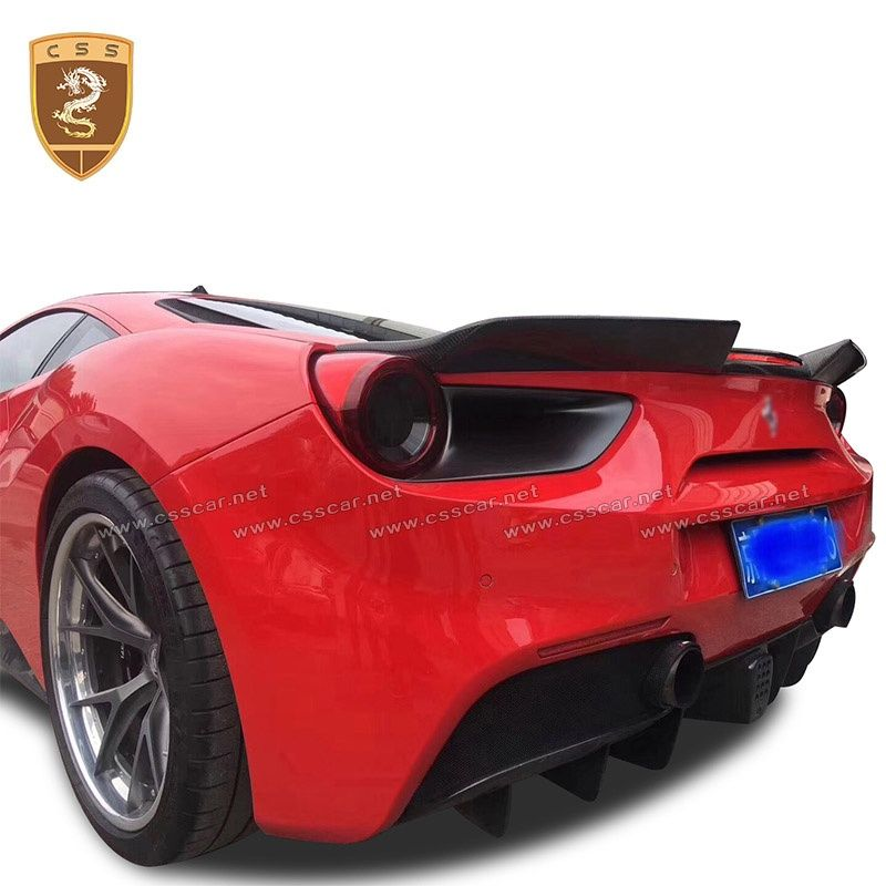 Ferrari 488 GTB carbon fiber ducktail