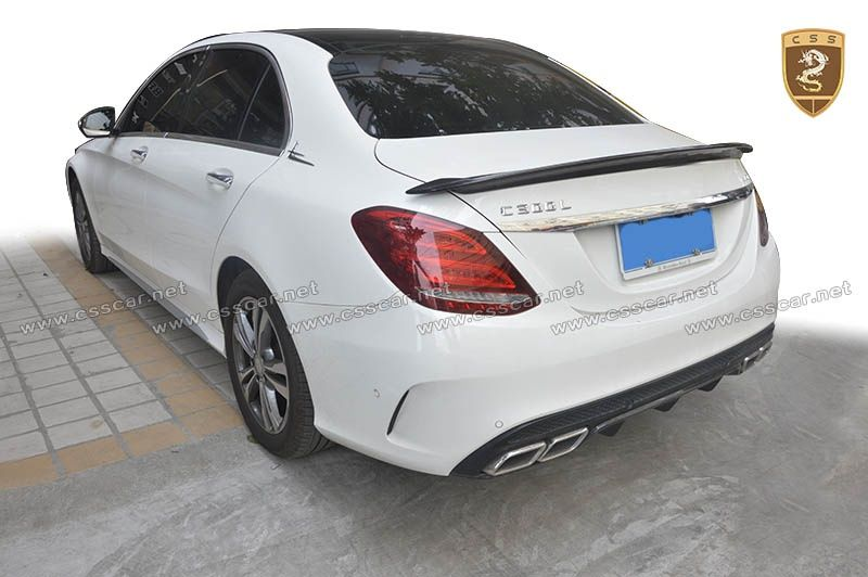 2016 Benz C W205 carlsson spoiler CF body kits
