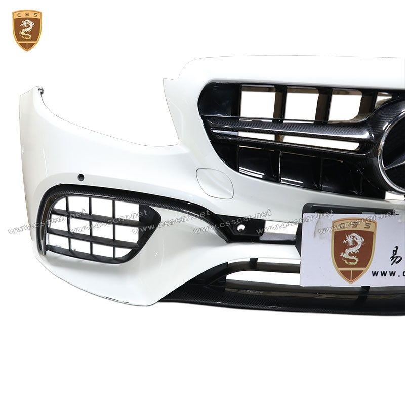 2017 Benz E W213 E63S carbon fiber main grille/down lip/front bumper canards