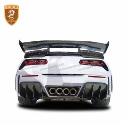 Chevrolet Corvette C7 carbon fiber rear wrap angle