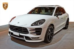PORSCHE macan TECHART front lip CF+FRP body kits