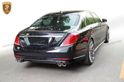 Benz S W222 brabus carbon rear lip